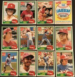 1981 Topps Coca-Cola Philadelphia Phillies Team Set  Near Mi