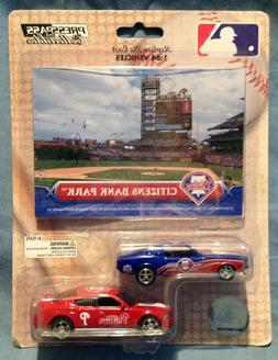 2010 Press Pass 1/64 2 Phillies Diecast Cars With Citizens B