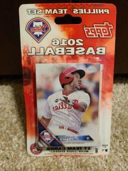 2016 Philadelphia Phillies Topps Team Baseball Card Set MLB