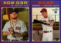 2020 TOPPS HERITAGE HIGH NUMBER CHROME PURPLE HOT BOX SINGLE