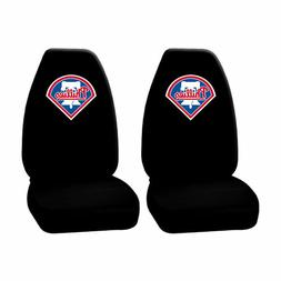 2pc MLB Philadelphia Phillies Black Front Highback Seat Cove