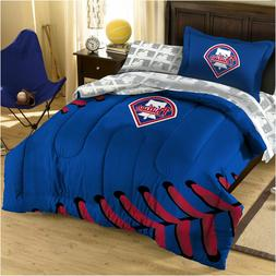 3pc MLB PHILADELPHIA PHILLIES TWIN Comforter Set  -  Basebal