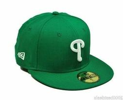 New Era 59Fifty Cap MLB Philadelphia Phillies Mens Green Whi