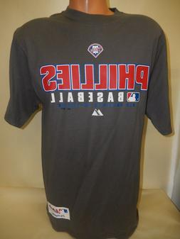 "9601-57 Majestic PHILADELPHIA PHILLIES ""Authentic"" Jersey Ga"