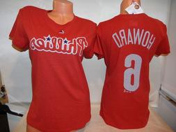 9601 WOMENS Majestic Philadelphia Phillies RYAN HOWARD Baseb