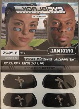 Authentic EYEBLACK under eye stickers 4 Pair Sport Cross Fai