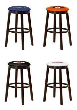 "BAR STOOL MLB TEAM LOGO DECAL 24"" & 28"" ESPRESSO WOOD METAL"