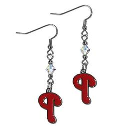 Siskiyou BCE095 Philadelphia Phillies Crystal Dangle Earring