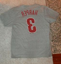 Bryce Harper Philadelphia Phillies men's Large t-shirt #3 ,