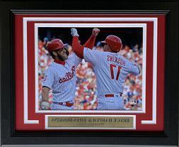 Bryce Harper Rhys Hoskins Philadelphia Phillies Framed 8x10