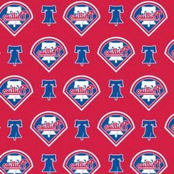 Cotton Philadelphia Phillies MLB Baseball Sports Cotton Fabr