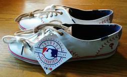 Ked's White Philadelphia Phillies Canvas Baseball Stitch Sho
