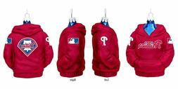 Kurt Adler 4-1/2-Inch Philadelphia Phillies Glass Hoodie Swe