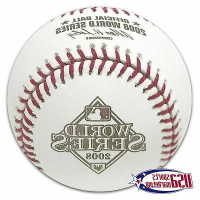 2008 world series official game baseball philadelphia