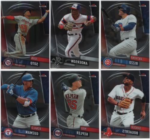 2019 topps finest baseball base set cards