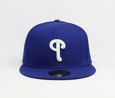 New 59Fifty MLB Mens Royal Blue 5950 Hat