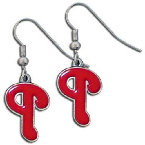 Siskiyou BDE095N Phillies Chrome Dangle Earrings