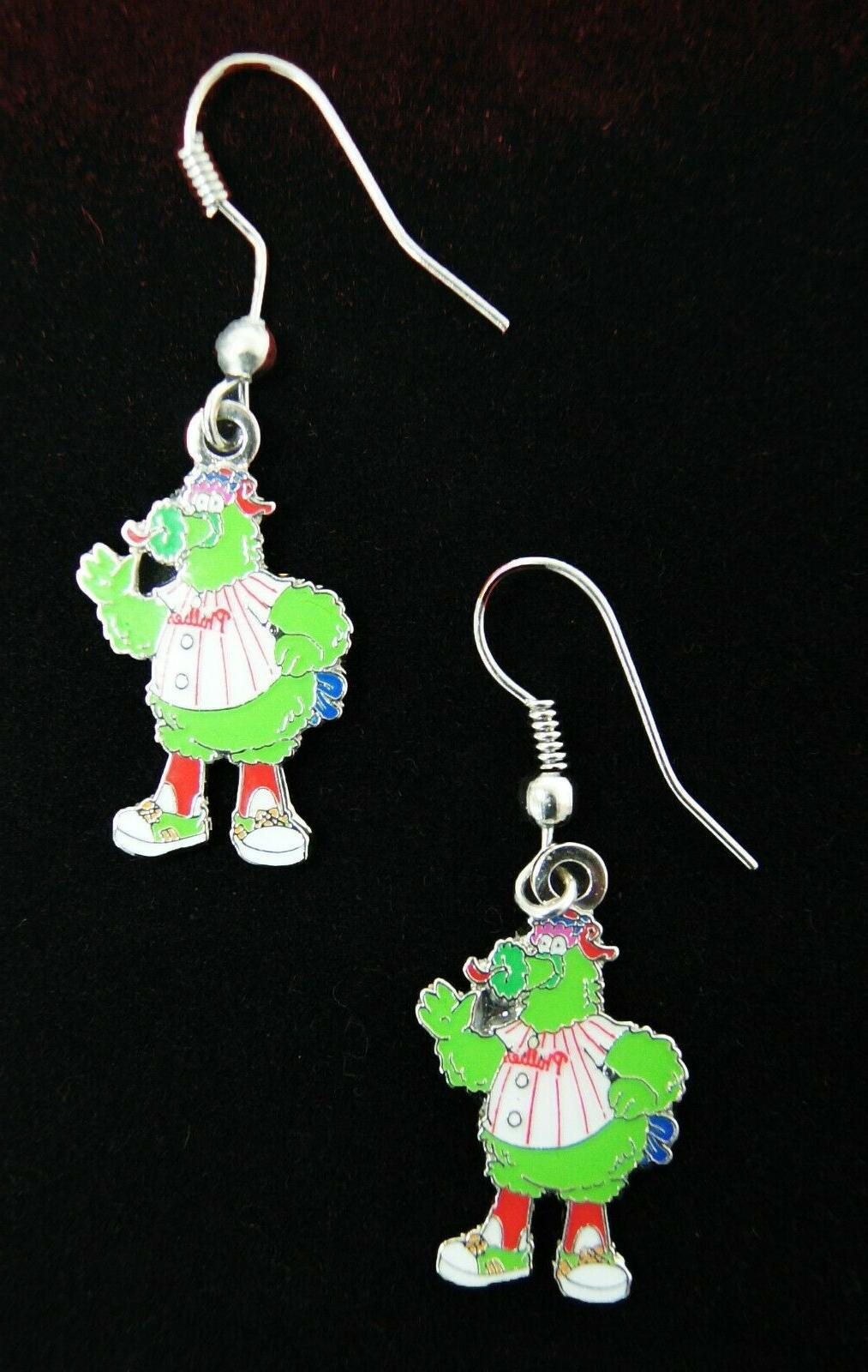 J-Hook Phillie Phanatic Earrings Philadelphia Phillies