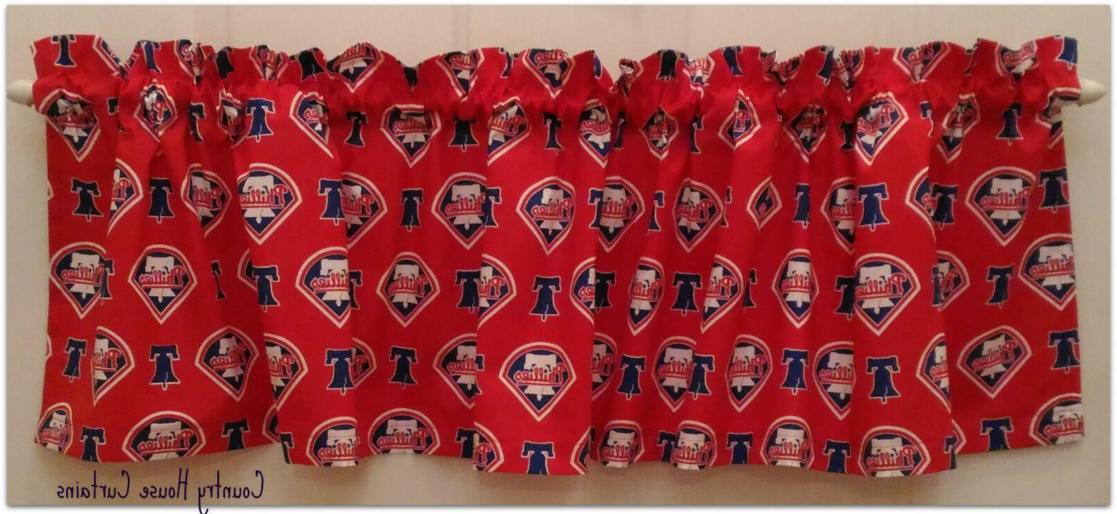 mlb baseball philadelphia phillies window curtain valance