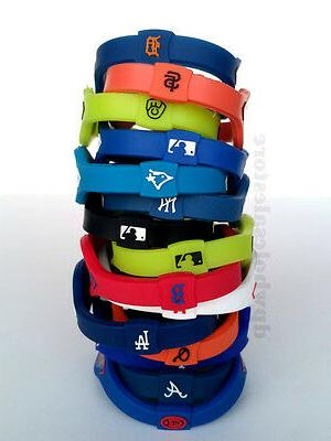 mlb baseball team bracelet wristband yankees giants