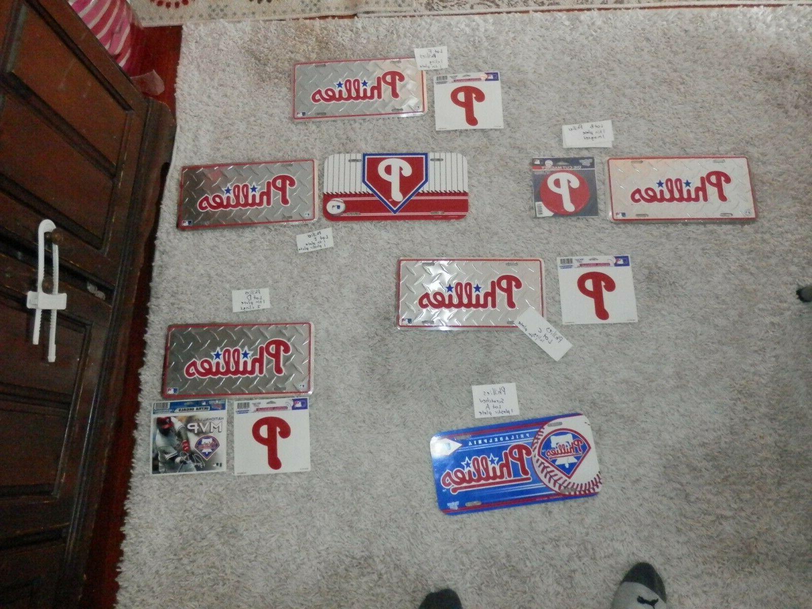 mlb memorabilia lot lots license plate magnets