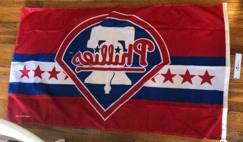 mlb philadelphia phillies baseball flag 3 x