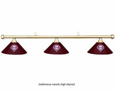 mlb philadelphia phillies burgundy shade brass bar