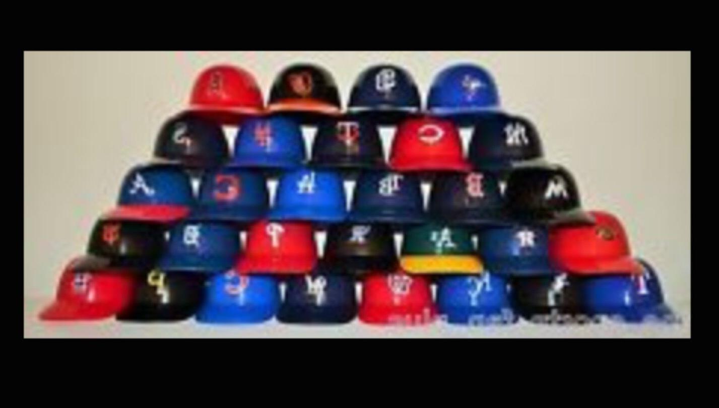 mlb rawlings mini pocket size batting helmet