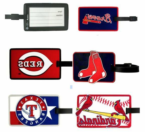 mlb soft rubber luggage and bag tag