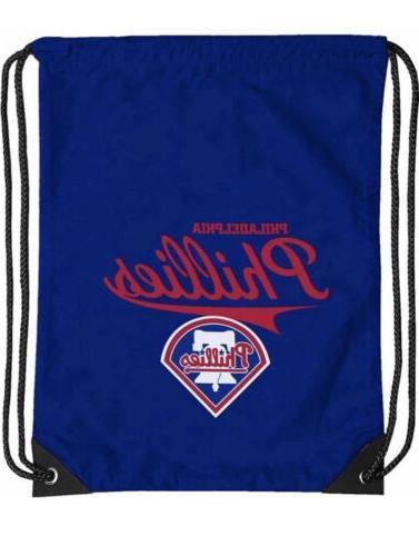 philadelphia mlb phillies logo cinch bag drawstring