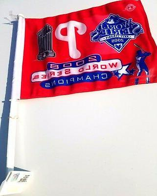 philadelphia phillies 2008 car flag two side