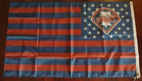 philadelphia phillies 3x5 american flag us seller