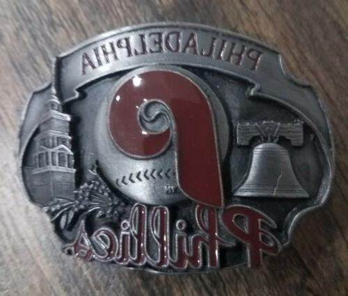 philadelphia phillies belt buckle 1993 official limited