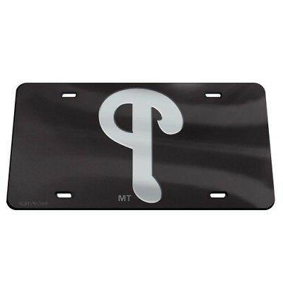 philadelphia phillies black and silver crystal mirrored