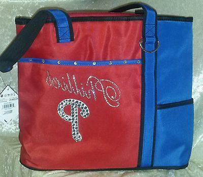 philadelphia phillies blinged rhinestone purse tote bag