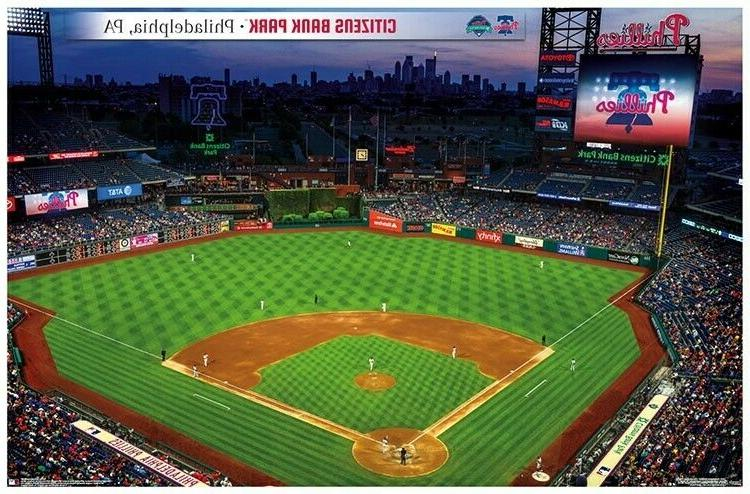 philadelphia phillies citizens bank park 2019 poster