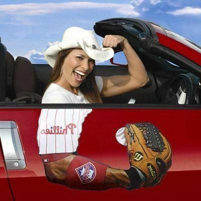 philadelphia phillies fan jersey baseball glove car