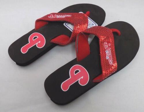 philadelphia phillies flip flop shoes size x