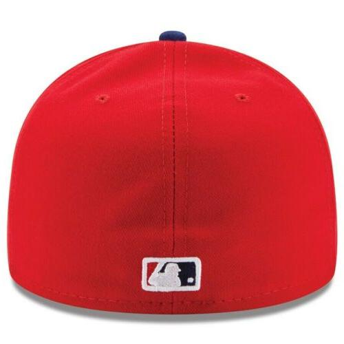 New philadelphia GAME Fitted Hat Red MLB NEW