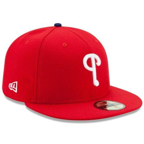 philadelphia phillies game 5950fifty fitted hat red