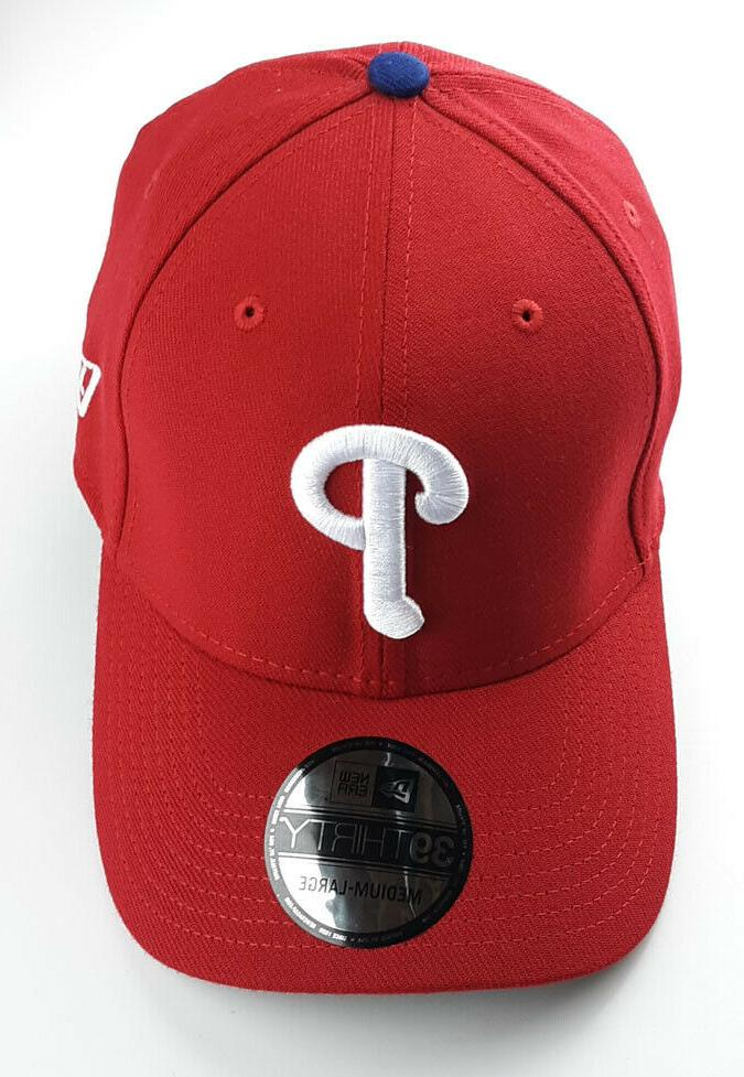 Philadelphia Phillies Genuine New 39Thirty Red Flex FITTED Hat