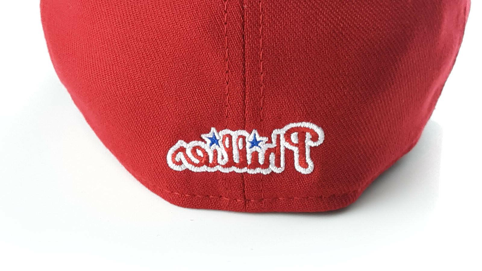 Philadelphia MLB New Era Red Flex Hat