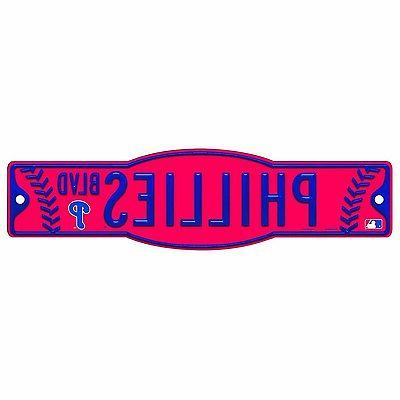 philadelphia phillies mlb 4 x17 street sign