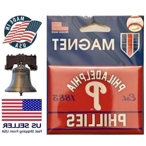 philadelphia phillies mlb fridge magnet baseball 2