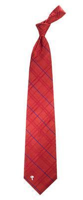 "Philadelphia Phillies MLB ""Oxford"" Men's Woven Silk Tie"
