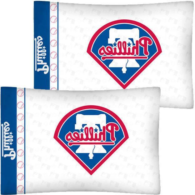 philadelphia phillies mlb standard logo 2 pillowcases