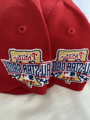 Philadelphia Phillies Red Allstat Fitted Size 5/8