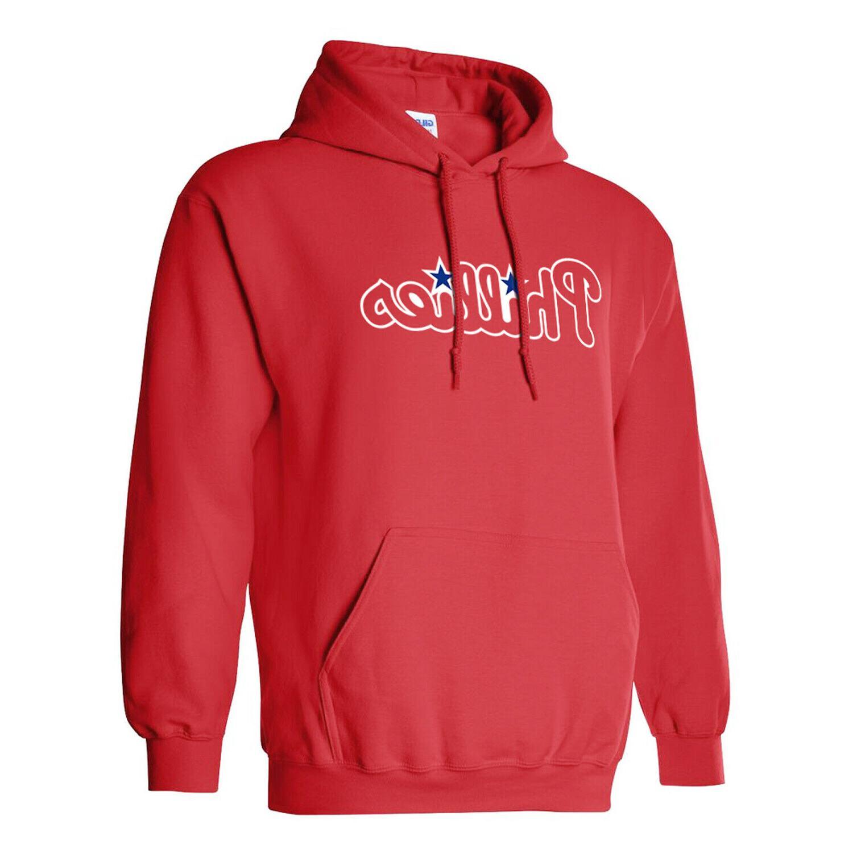 philadelphia phillies red hoodie pullover red mens