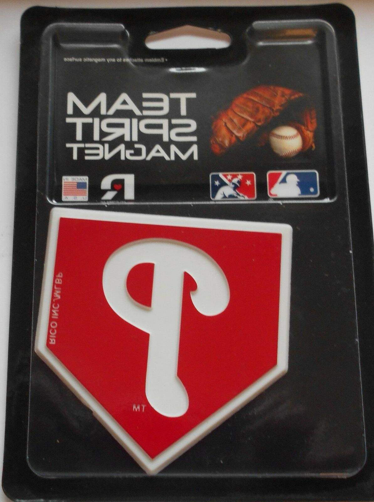 philadelphia phillies team spirit magnet 3 x