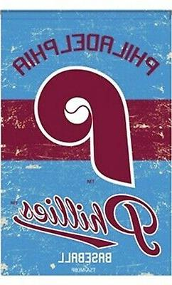 Philadelphia Phillies Vintage GARDEN Flag Premium 2-sided Re